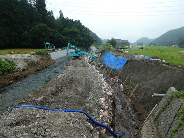 行川護岸工事イメージ
